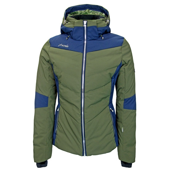 Phenix Chloe Hybrid Down Jacket W - Olive/Blue
