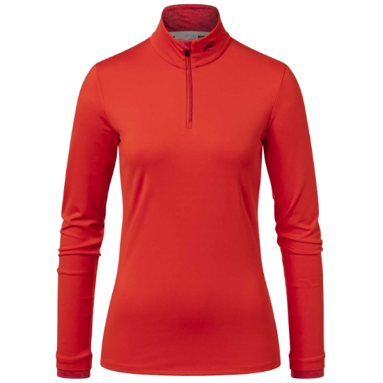 Kjus Feel Halfzip W - Fiery Red