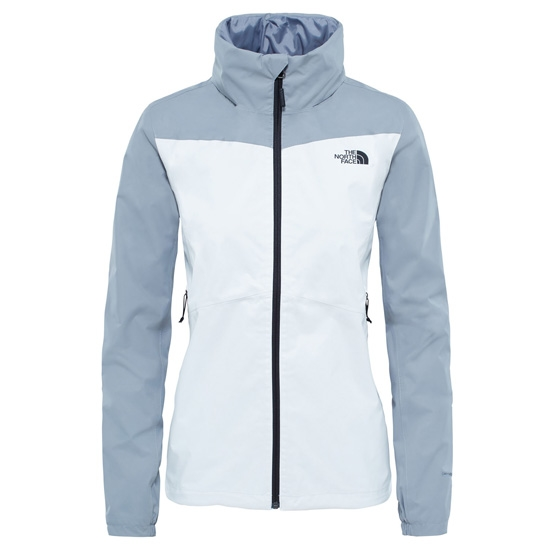 The North Face Resolve Plus Jacket W - TNF White/Mid Grey Dobby
