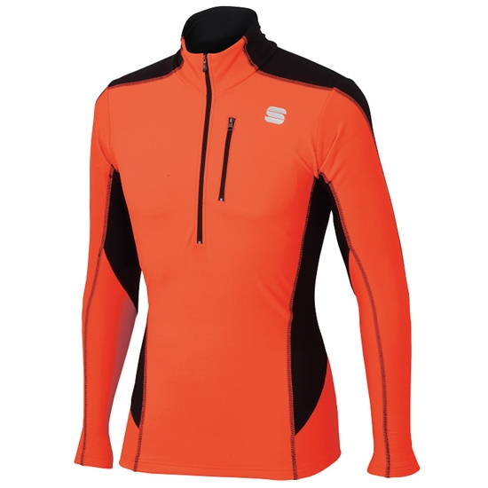 Sportful Cardio Tech Top - Red Fluo/Black
