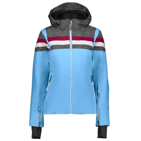 Campagnolo Stretch Zip Hood Jacket W - Blue Jewel