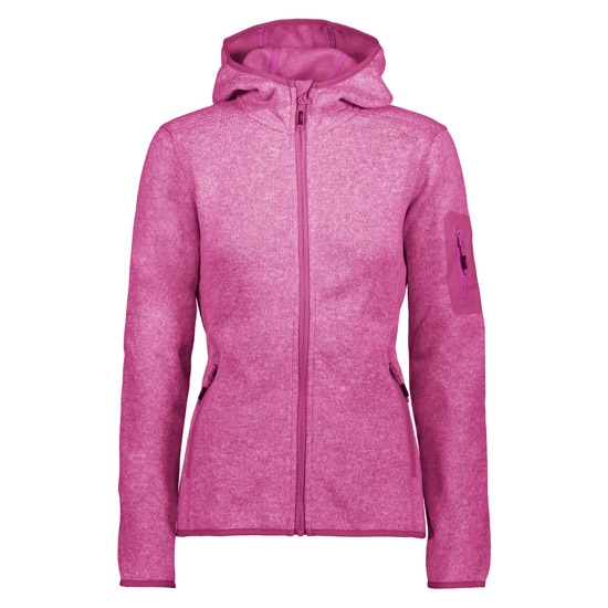 Campagnolo Knitted Fleece Jacket W - Hot Pink/Bianco