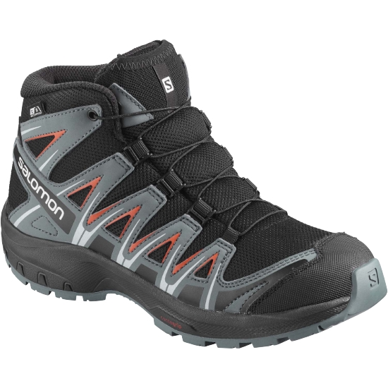 Salomon XA Pro 3D Mid CSWP Jr - Black/Storm Weather