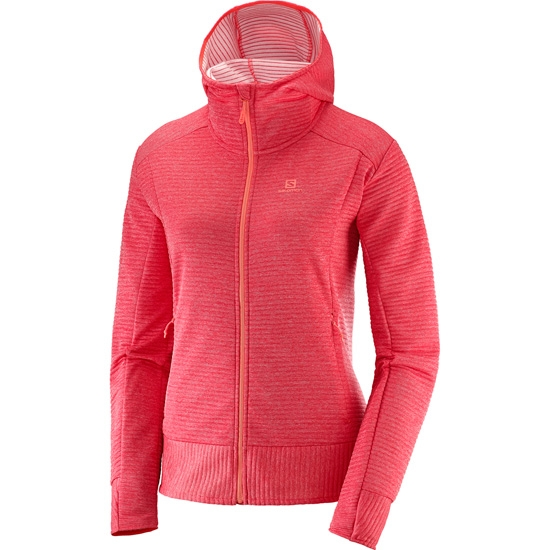 Salomon Right Nice Mid Hoodie W - Hibiscus