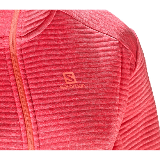 Salomon Right Nice Mid Hoodie W - Photo of detail