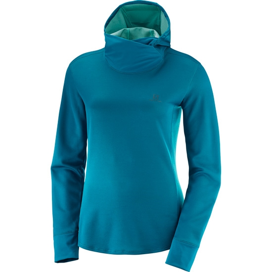 Salomon Deep AGILE LS HOODIE W Deep Salomon Lagoon Heather L40389500/ da0a87