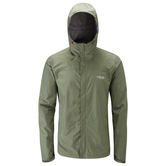 Rab Downpour Jacket - Field Green