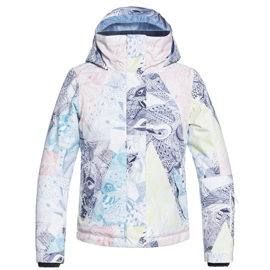 Roxy Jetty Sky Jacket Girl - Bright White/Alska Bird