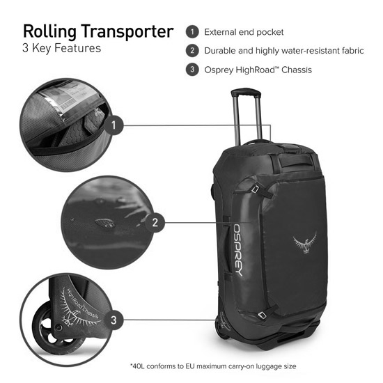 Osprey Rolling Transporter 40 - Detail Foto