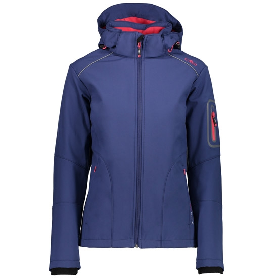Campagnolo Softshell Zip Hood Jacket W - Inchiostro