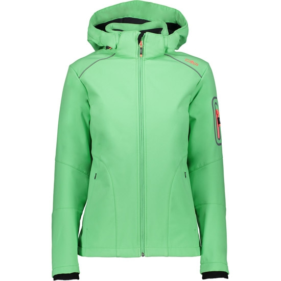 Campagnolo Softshell Zip Hood Jacket W - Green Tea