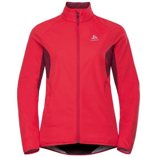 Odlo Aeolus Element Warm Jacket W - Hibiscus/Rumba Red
