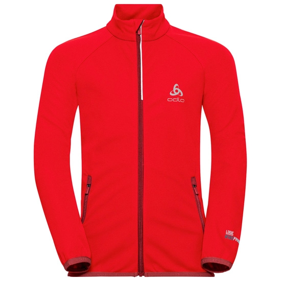 Odlo Aeolus Element Warm Jacket Jr - Fiery Red/Syra