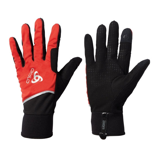 Odlo Windproof Light Gloves W - Fiery Red/Black