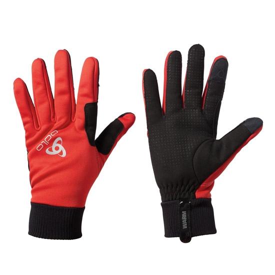 Odlo Windproof Warm Gloves - Fiery Red/Black