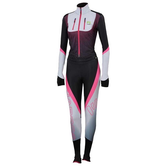 Karpos Karpos Race Suit W - White/Black/Pink Fluor