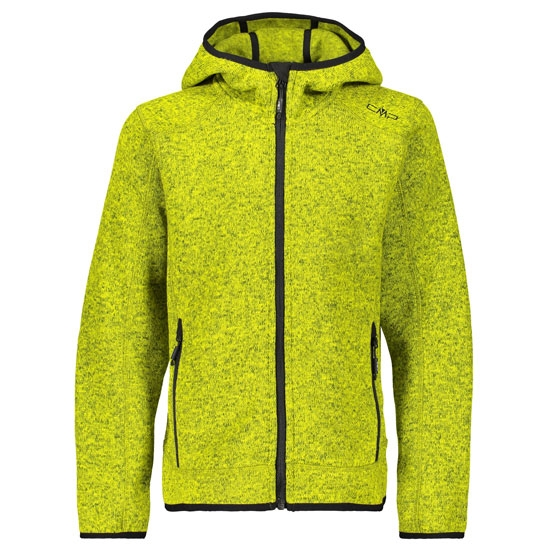 Campagnolo Knitted Fleece Jacket Boy - Limeade-Asphalt