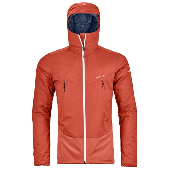 Ortovox 2L Swisswool Leone Jacket - Crazy Orange