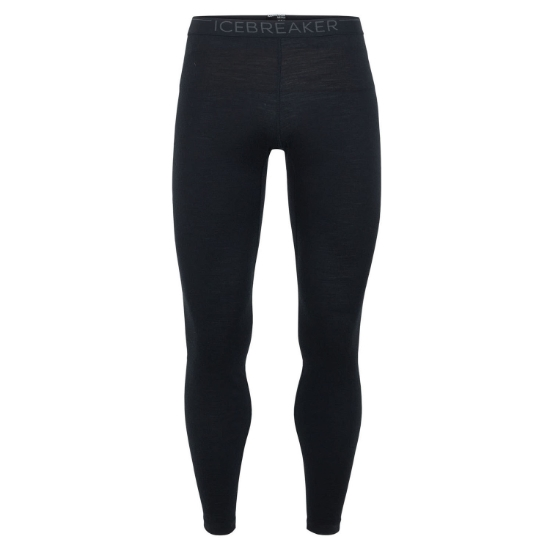 Icebreaker 200 Oasis Leggings - Black/Monsoon