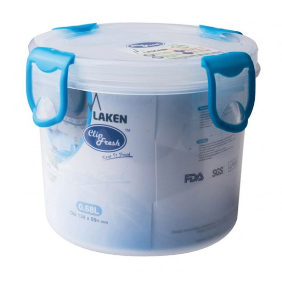 Laken Fiambrera Redonda 0.68L - Azul