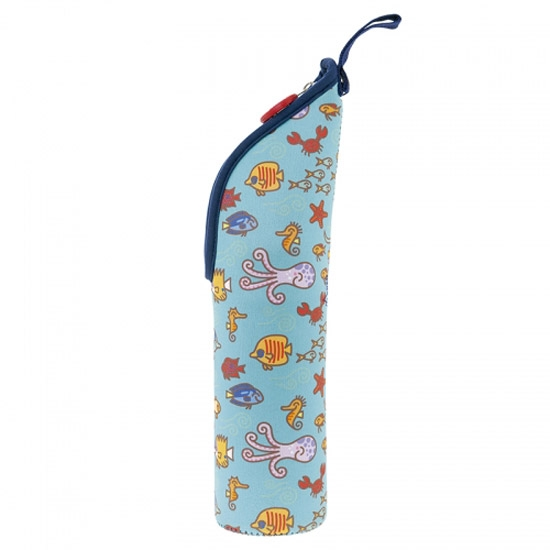 Laken Termo Inox 0.35L + Neo Cover - Dolphin Azul