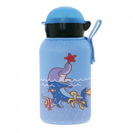 Laken Aluminium Bottle 0,35L+ Neo Cover - Dolphin