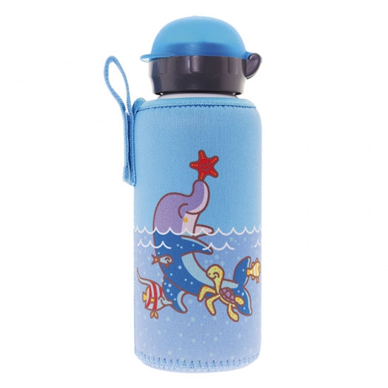 Laken Aluminium Bottle 0.45L+ Neo Cover - Dolphin
