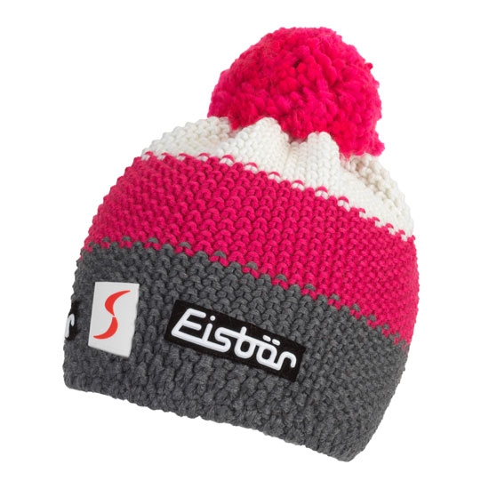 Eisbar Star Pompon Kids - Pink/Grey
