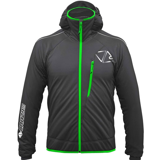 Crazy Half Blade Jacket - Black/Green Fluor