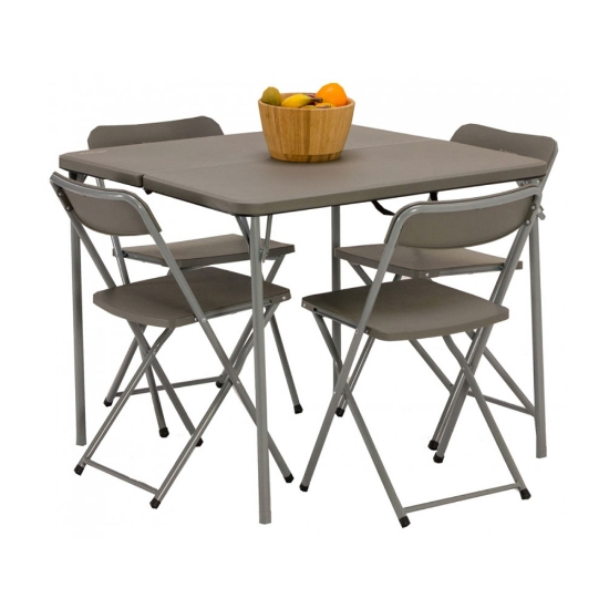 Vango Orchard Table and Chair Set - Grey