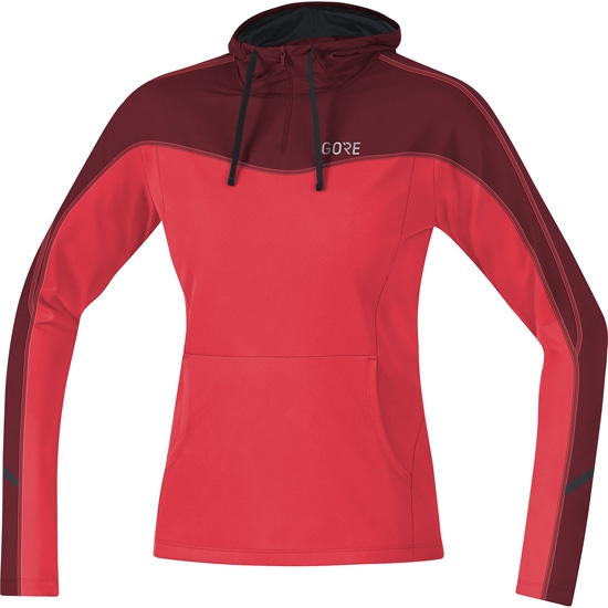 Gore R3 Hoodie W - Hibiscus Pink/Chesnut Red