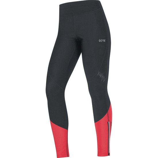 Gore R5 Gore Windstopper Tights W - Black/Hibiscus Pink