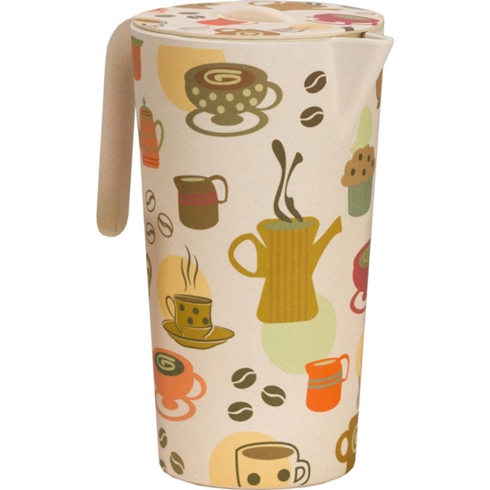 Vango Bamboo Pitcher/4 Cups - Coffee Cup