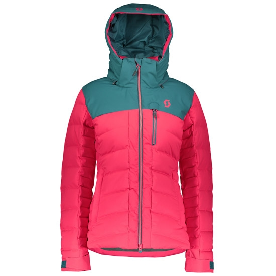 Scott Ultimate Down Jacket W - Dragonfly Green/Hibiscus Red