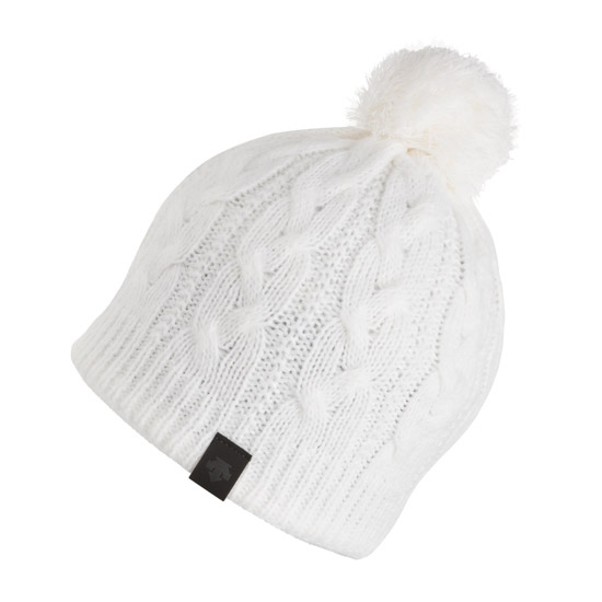 Descente Lane Knit Cap - White