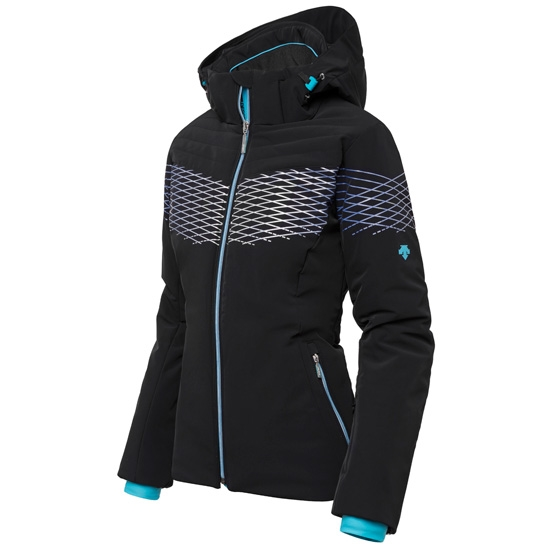 Descente Alessia Mid Length Jacket W - Black/Cyan