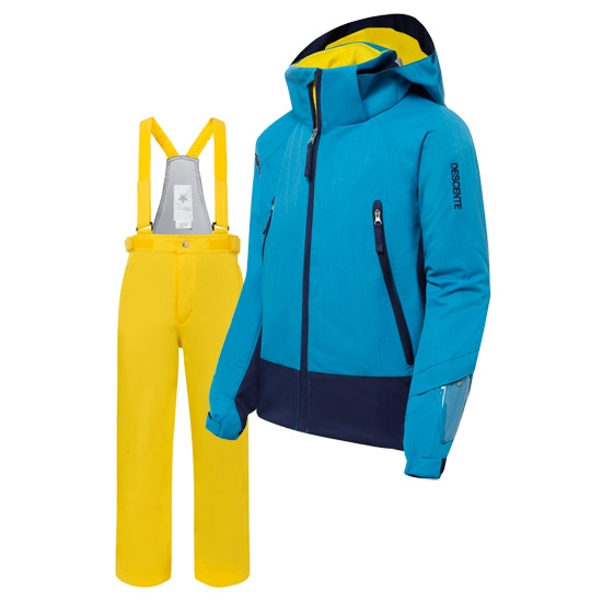 Descente Big Pocket Suit Kid's - Blue/Yellow