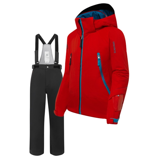 Descente Big Pocket Suit Kid's - Red/Black