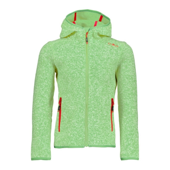 Campagnolo Fleece Fix Hood Girl - Green Tea/Bianco