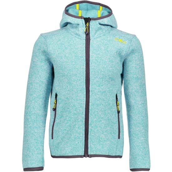 Campagnolo Fleece Fix Hood Girl - Ocean/Anice