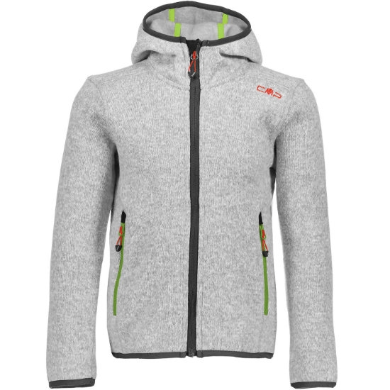 Campagnolo Knitted Fix Hood Girl - Argent Bianc/Green