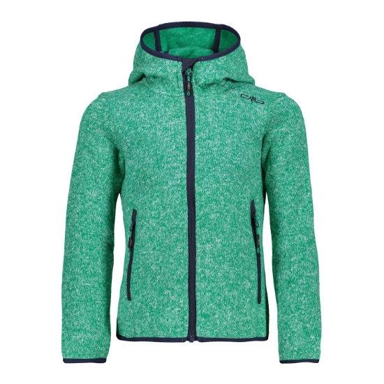 Campagnolo Fleece Fix Hood Girl - Emerald/Bianco