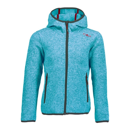 Campagnolo Fleece Fix Hood Girl - Jewel/Asphal