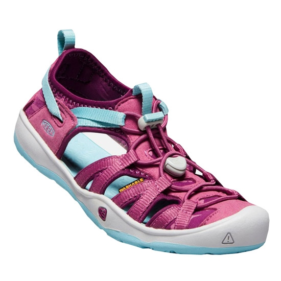 Keen Moxie Sandals Youth - Red Violet/Pastel Turqouise