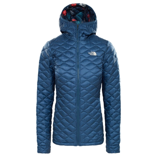 The North Face ThermoBall Hoodie W - Blue Wing Teal/Blue Wing Teal Joshua Tree Print