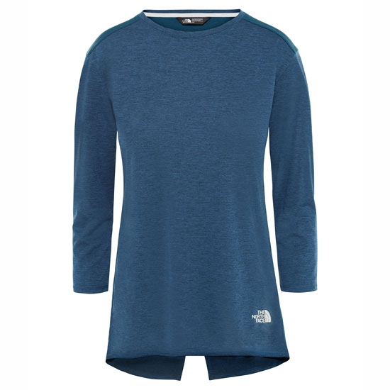 The North Face Inlux 3/4 Sleeve Top W - Blue Wing Teal Dark Heather