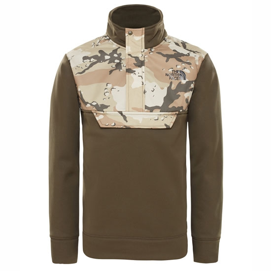 The North Face Surgent 1/4 Zip Jr - New Taupe Green Desert Youth Print