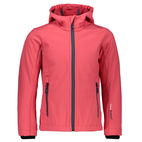 Campagnolo SoftShell Fix Hood Girl - Corallo/Granita