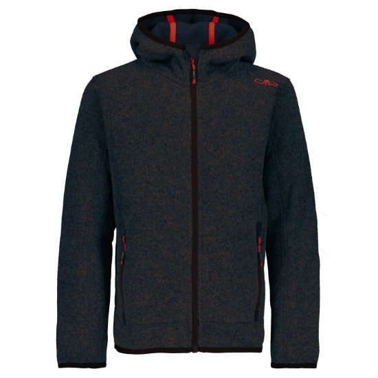 Campagnolo Knitted Fix Hooded Jr - Maiolica/Arabica