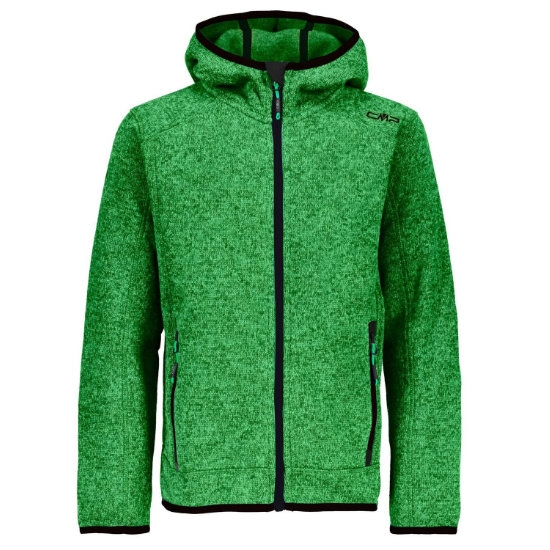Campagnolo Knitted Fix Hooded Jr - Green/Emerald